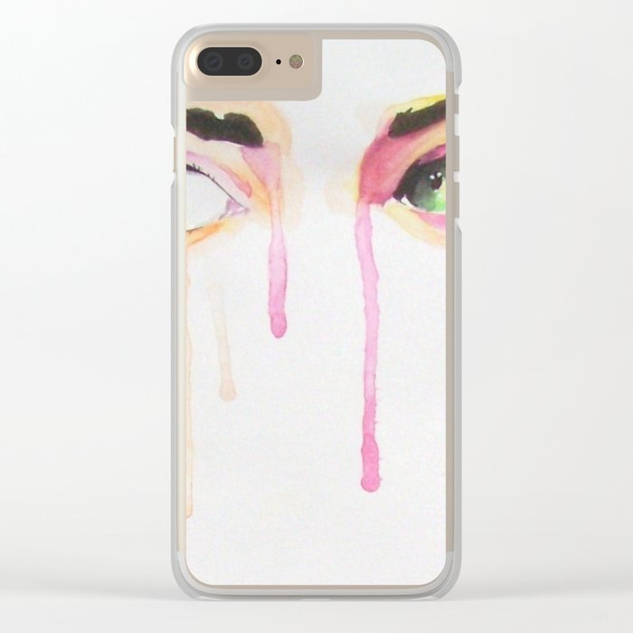 BIG EYES Clear iPhone Case