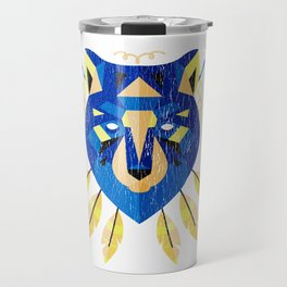 Indian Wolves  Native American Wolf Graphic Travel Mug