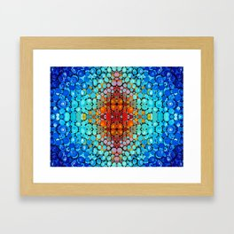 Inner Vision - Colorful Spiritual Abstract Art By Sharon Cummings Framed Art Print