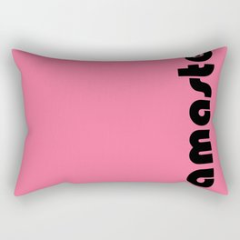 Namaste in pink. Rectangular Pillow