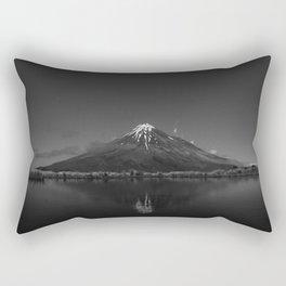 Snows of Volcano Black and White Photographic Art Print Rectangular Pillow