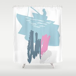 FISHERBOAT KID Shower Curtain