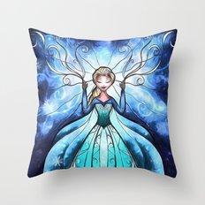 Anna and Elsa Throw Pillow