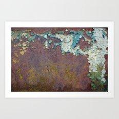 Paint mosaic Art Print