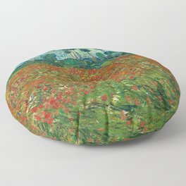 Vincent Van Gogh Poppy Field Floor Pillow