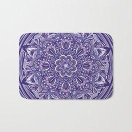 Great Purple Mandala Bath Mat