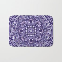 Great Purple Mandala Bath Mat