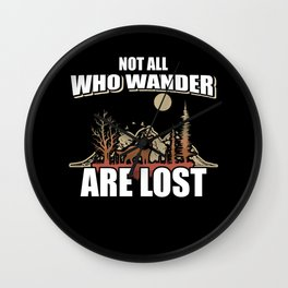Not All Who Wander Are Lost Gradient Mountain Vintage Wall Clock