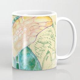 Sea Turtle Yellow Map Coffee Mug