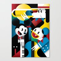 band Canvas Prints featuring Mickey's Band by Szoki