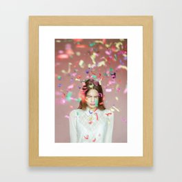 unexpected happiness Framed Art Print