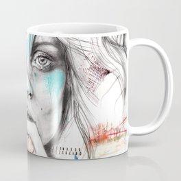 Kate Moss by Leo Tezcucano Coffee Mug
