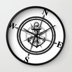 Nautica BW Wall Clock