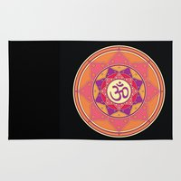 ohm Area & Throw Rugs featuring Ohm by TypicalArtGuy
