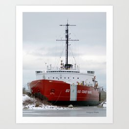 USCG Cutter Mackinaw 83 Art Print