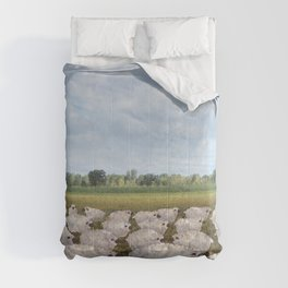 sheep in the field Comforters