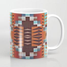 Native American Indian Tribal Mosaic Rustic Cabin Pattern Coffee Mug