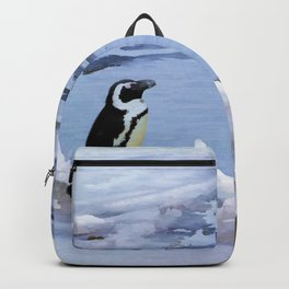 Cute Polar Bear Cub & Penguin Backpack