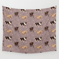 Rescue Dogs Pattern Wall Tapestry