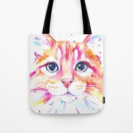 Ginger Cat Watercolor painting Tote Bag