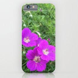 Purple-Pink Flowers iPhone Case