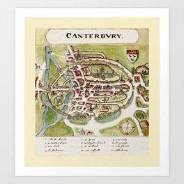 Canterbury 1588 Art Print