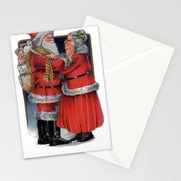 Vintage Mr and Mrs Claus  Stationery Cards