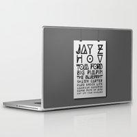 jay z Laptop & iPad Skins featuring Eye Test - JAY Z by Studio Samantha