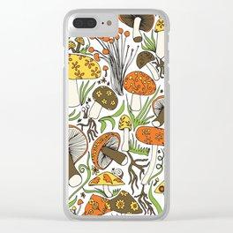 Hand-drawn Mushrooms Clear iPhone Case