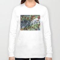 music notes Long Sleeve T-shirts featuring Music Notes by Paxelart