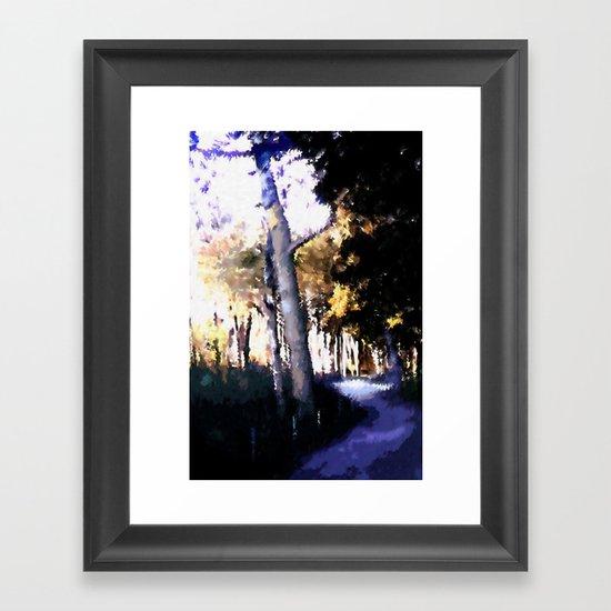 Hiking on the Coast. Framed Art Print