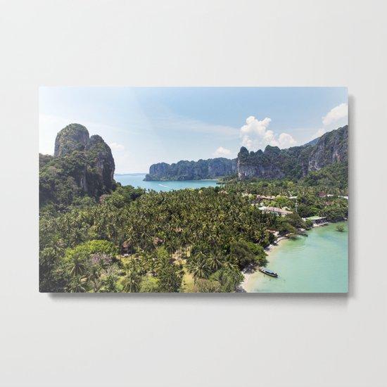 Railay Bay - Rai Leh Beach, Krabi Thailand  -  Tropical Paradise Metal Print