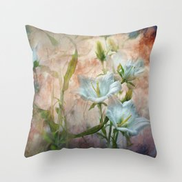 Campanula on the wild side Throw Pillow