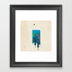 Swan Hanger Framed Art Print