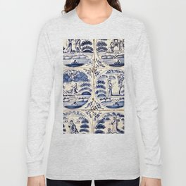 Dutch Delft Blue Tiles Long Sleeve T-shirt