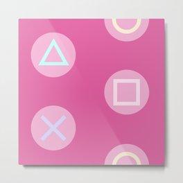 Pink Gamer Girl Metal Print