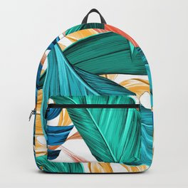Colourful Jungle Pattern Backpack