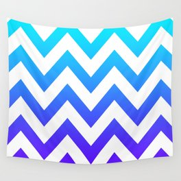 PURPLE & TEAL CHEVRON FADE Wall Tapestry