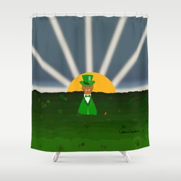 Oliver The Otter and Field of Shamrocks Shower Curtain