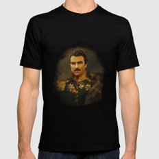 Tom Selleck - replaceface Black LARGE Mens Fitted Tee