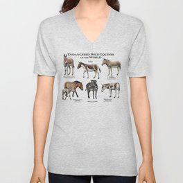 Endangered Equines of the World Unisex V-Neck
