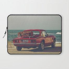 Triumph Spitfire by the sea, fine art photo, british car, sports car, classic car, supercar Laptop Sleeve