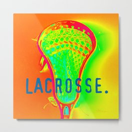 LACROSSE. ORANGE Metal Print