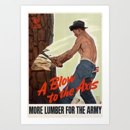 A Blow to the Axis Art Print