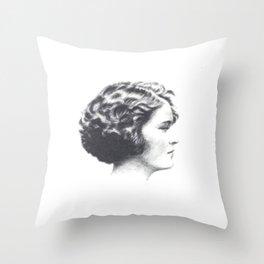 A portrait of Zelda Fitzgerald Throw Pillow
