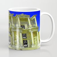 old school Mugs featuring Old School by Nicholas Bremner - Autotelic Art