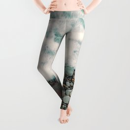 A Beautiful Spring Day at the Beach IV Leggings