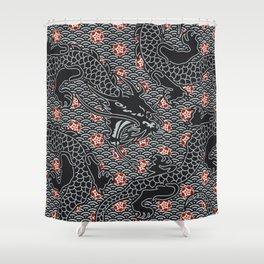 Hidden Dragon / Oriental dragon design Shower Curtain