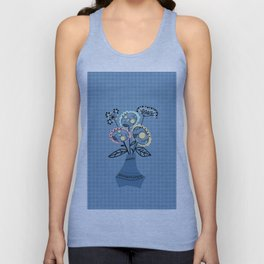 Quilling, flowers in vase Unisex Tank Top
