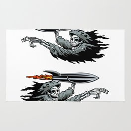 Grim Reaper launching missile. Rug